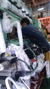 Repair of Crankshaft in Limited Space