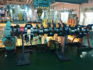 Crankshaft Straightening Process of MAN Diesel Engine