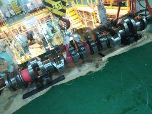 Crankshaft of Wartsila Diesel Engine