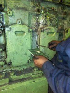 Repair of Engine Block of Yanmar Engine on Vessel