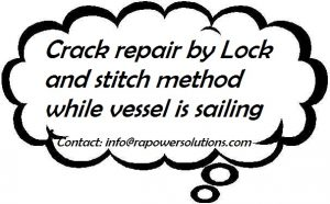Crack Repair by Lock and Stitch Method