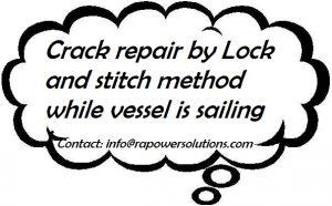 Crack Repair by Lock and Stitch Method