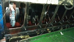Crankshaft Grinding on Board a Vessel