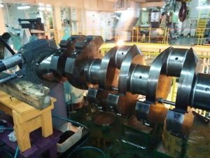 Crankshaft Repair is in Process