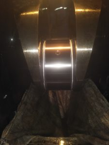 Finished Crankpin of Wartsila Engine After Onsite Grinding