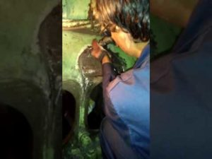 Repair of Damaged Engine Block by RA Power Technician