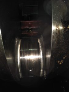 Damaged Crankpin of Marine Engine