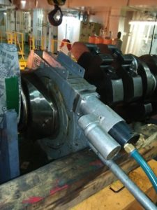 Grinding of Crankshaft on VBlock by Crankshaft Grinding Machine