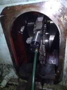 Grinding & Repair of Crankpin is in Process