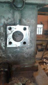 Damaged turbine casing