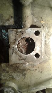 Turbine casing after repairs