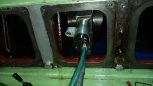 Grinding of Crankpin by Crankshaft Grinding Machine is in Process
